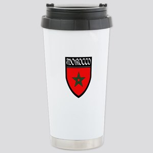 Morocco Flag Patch Stainless Steel Travel Mug