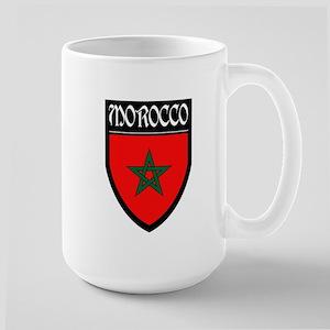Morocco Flag Patch Large Mug