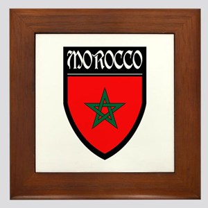 Morocco Flag Patch Framed Tile