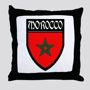 Morocco Flag Patch Throw Pillow