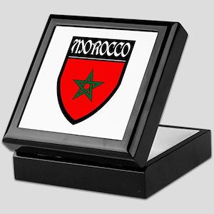 Morocco Flag Patch Keepsake Box