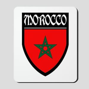 Morocco Flag Patch Mousepad