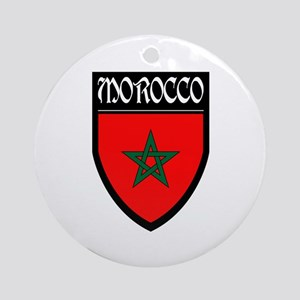 Morocco Flag Patch Ornament (Round)