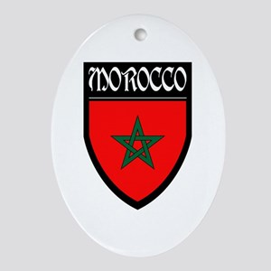 Morocco Flag Patch Ornament (Oval)