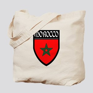 Morocco Flag Patch Tote Bag