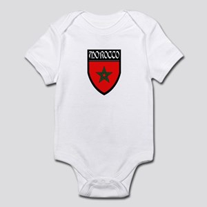 Morocco Flag Patch Infant Bodysuit