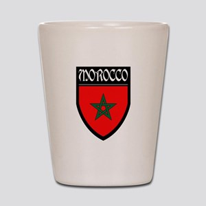 Morocco Flag Patch Shot Glass