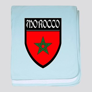 Morocco Flag Patch baby blanket