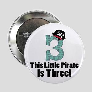 "3rd Birthday Pirate 2.25"" Button"