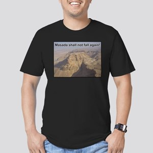 Masada Shall Not Fall Again Men's Fitted T-Shirt (