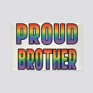 GLBT Rainbow Proud Brother Rectangle Magnet