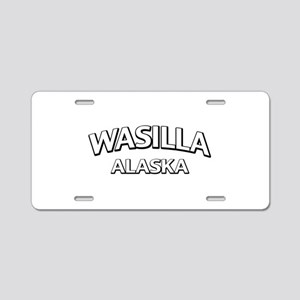 Wasilla Alaska Aluminum License Plate