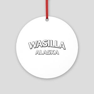 Wasilla Alaska Ornament (Round)