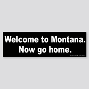 Welcome/Montana Sticker (Bumper)