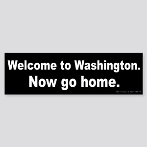 Welcome/Washington Sticker (Bumper)