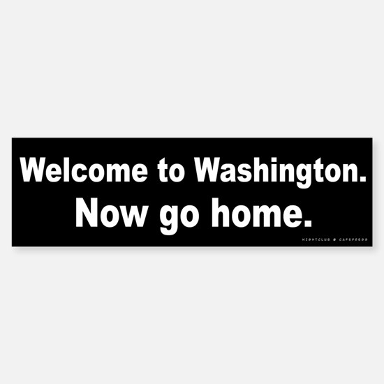 Welcome/Washington Sticker (Bumper)