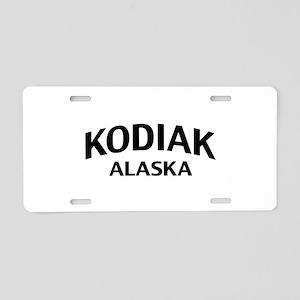 Kodiak Alaska Aluminum License Plate