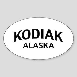Kodiak Alaska Sticker (Oval)