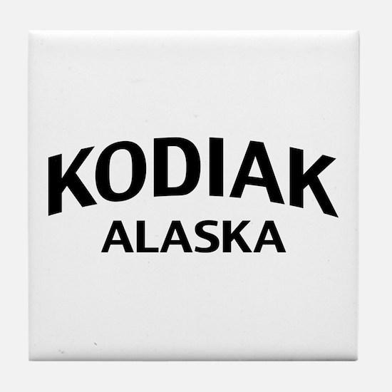 Kodiak Alaska Tile Coaster