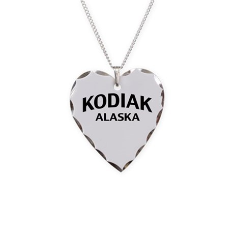 Kodiak Alaska Necklace Heart Charm