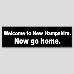Welcome/New Hampshire Sticker (Bumper)