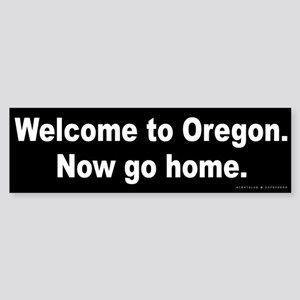 Welcome/Oregon Sticker (Bumper)