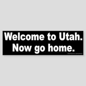 Welcome/Utah Sticker (Bumper)