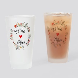 Bride Tribe Floral Drinking Glass