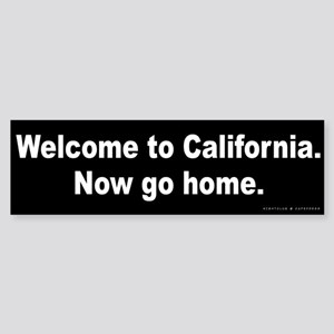 Welcome to California Sticker (Bumper)