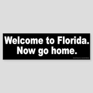 Welcome to Florida Sticker (Bumper)