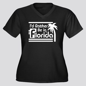 I'd Rather Be In Florida Women's Plus Size V-Neck