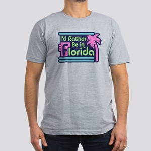 I'd Rather Be In Florida Men's Fitted T-Shirt (dar