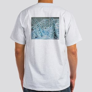 Skiing Through The Trees Ash Grey T-Shirt