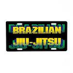 Jiu-Jitsu Aluminum License Plate