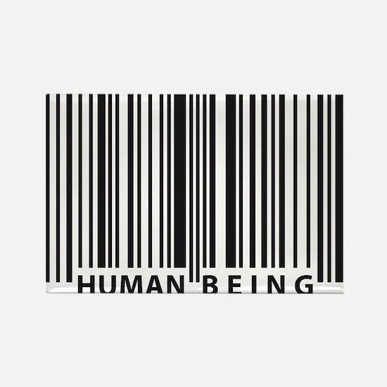 Cute Human barcode Rectangle Magnet