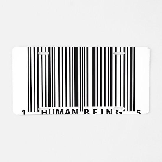 Cool Human Aluminum License Plate