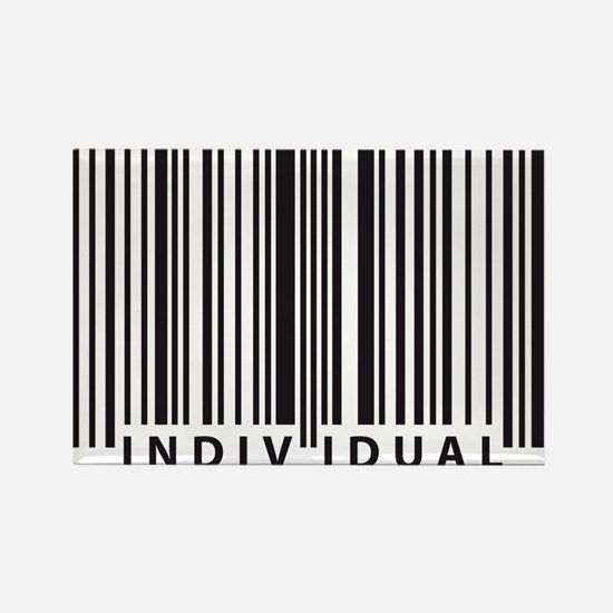 Funny Human barcode Rectangle Magnet