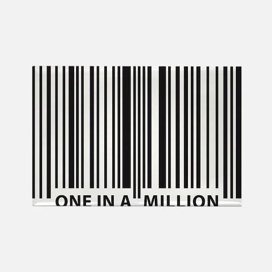 Unique Human barcode Rectangle Magnet