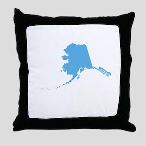 Baby Blue Alaska Throw Pillow