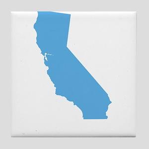Baby Blue California Tile Coaster