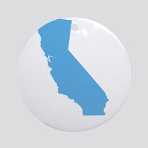 Baby Blue California Ornament (Round)