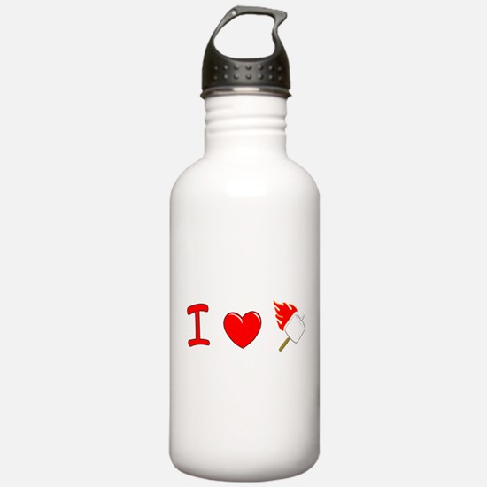 I Heart Marshmallows Sports Water Bottle