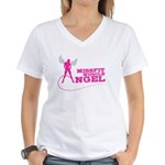 Missfit Muscle Angel Women's V-Neck T-Shirt