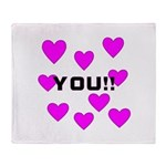 Love You! Throw Blanket
