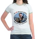 Rather Hunt with Cheney Jr. Ringer T-Shirt