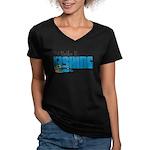 New Product Sample Women's V-Neck Dark T-Shirt