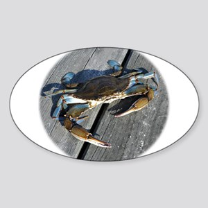 Ooh crab! Sticker (Oval)