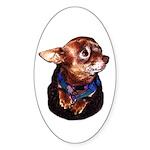 Chihuahua Sticker (Oval 50 pk)