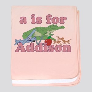 A is for Addison baby blanket