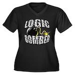 Logic Bomber Women's Plus Size V-Neck Dark T-Shirt